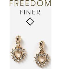*freedom finer mini heart earrings - clear