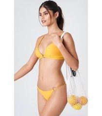 j&k swim x na-kd circle detai bikini panty - yellow