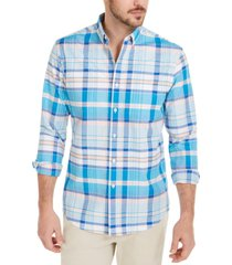 club room men's daniel plaid oxford shirt, created for macy's