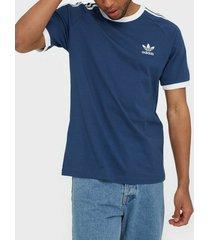 adidas originals 3-stripes tee t-shirts & linnen marin blå