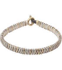 18k gold and silver zig bracelet
