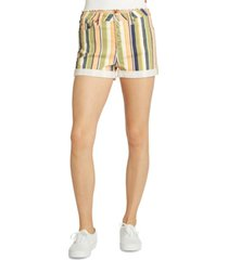 dickies striped cotton button-fly shorts