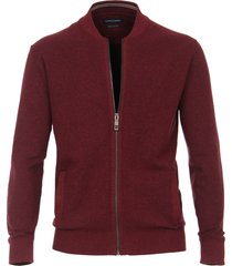 casamoda vest bordeaux met steekzakken regular fit