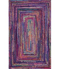 nuloom nomad hand braided tammara cotton blue 6' x 9' area rug