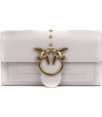 pinko grey love simply wallet