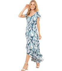 vestido tropico blanco ragged pf11510962