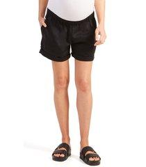 women's ingrid & isabel under belly elastic waist shorts, size x-large - black