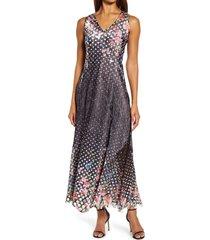 women's komarov lace back a-line gown, size x-large - black