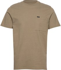heavy jersey pkt tee t-shirts short-sleeved brun lee jeans
