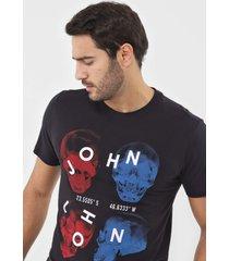 camiseta john john caveira preta - preto - masculino - algodã£o - dafiti