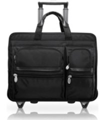 "mcklein clinton, 17"" patented detachable -wheeled laptop briefcase"