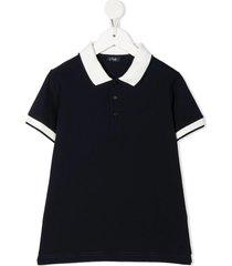 il gufo two-tone cotton polo shirt