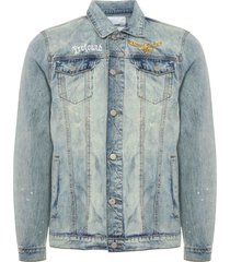 profound aesthetic printed floral denim patch jacket 44849-1007336