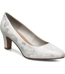 woms court shoe shoes heels pumps classic silver tamaris