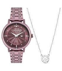 relógio technos feminino steel roxo 2015ccuk5g