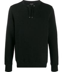 ron dorff drawstring sweatshirt - black