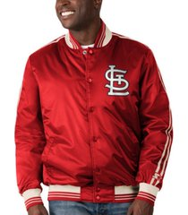 starter st. louis cardinals men's orginator satin jacket