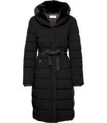 coat not wool gevoerde lange jas zwart gerry weber edition