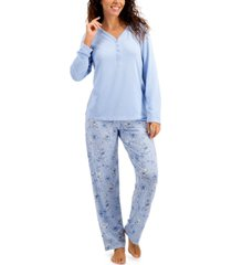 charter club soft knit pajama set, created for macy's