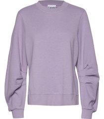 isoli sweat-shirt trui paars ganni