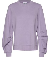 isoli sweat-shirt trui paars ganni