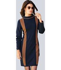 jurk alba moda marine::cognac