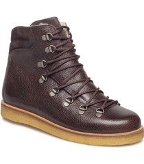 boots - flat - with laces shoes boots ankle boots ankle boots flat heel brun angulus