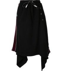 maison mihara yasuhiro rectangle snap skirt - black