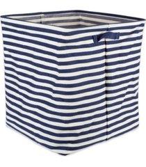 design imports polyethylene coated herringbone woven cotton laundry hamper stripe french rectangle