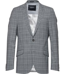 checked stretch blazer blazer kavaj grå lindbergh