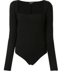 ann demeulemeester square-neck bodysuit - black