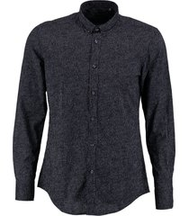 antony morato donkerblauw slim fit overhemd valt kleiner