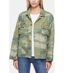 levi's women's cotton print jacket