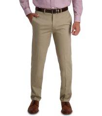 haggar men's iron free premium khaki straight fit flat front pant