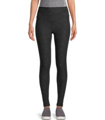 nine west women's stretch pull-on leggings - charcoal - size xl