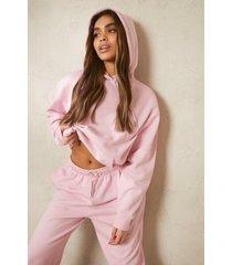 gerecyclede overhead hoodie, pale pink