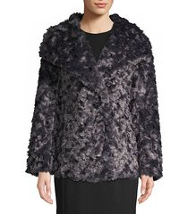 roslyn reversible faux fur coat