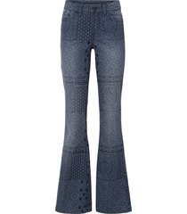 jeans a zampa con mix di fantasie (blu) - rainbow