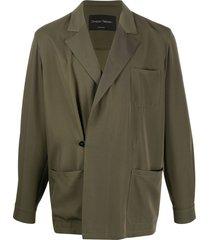 christian pellizzari loose fit blazer - green