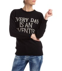 maglione maglia donna girocollo everyday is an adventure