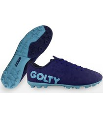 zapatillas golty turf profesional crack - azul