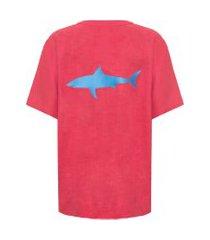 camiseta unissex tubarão - vermelho