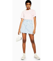 bleach wash denim mini skirt - bleach stone