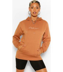 woman signature hoodie, roest