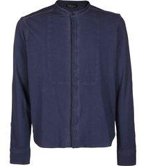 roberto collina blue cotton shirt
