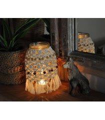 lampion- świecznik makrama
