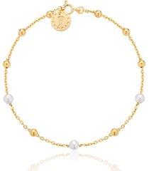 bransoletka z 3 białymi perłami kolekcja pearlove