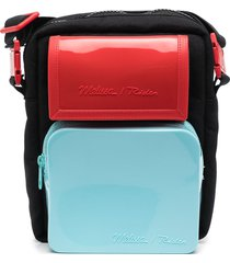mini melissa multi-pocket backpack - black
