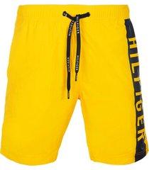 traje de baño med drawstring solid amarillo tommy hilfiger