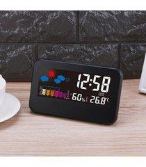 reloj de alarma digital temperatura del tiempo humedad-
